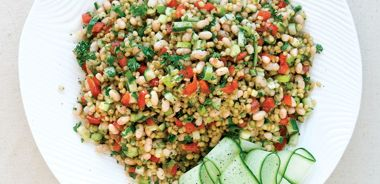 Wheat Berry and Navy Bean Salad