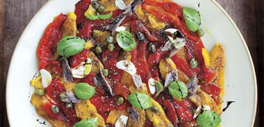 Peppers with Anchovies and Capers