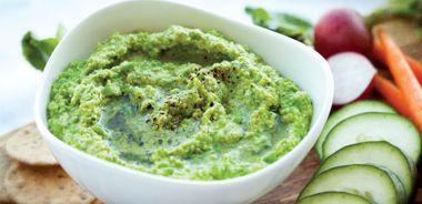 Edamame and Green Pea Hummus