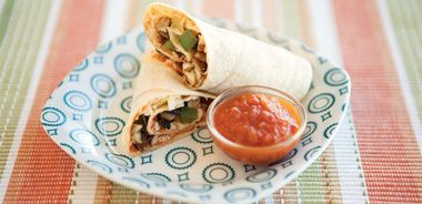 Healthy Pizza Rolls with Marinara Dipping Sauce