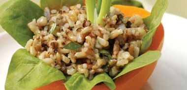 Simple Herbed Greens and Grains