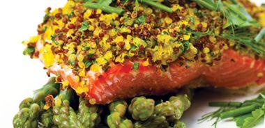 Quinoa-Crusted Salmon