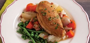 Slow Roasted Riesling Braised Chicken