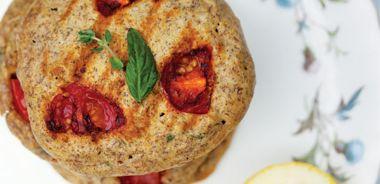Thyme, Tomato and Corn Pancakes
