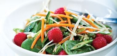 Enoki Mushroom and Spinach Salad