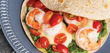Caprese Shrimp Quesadillas