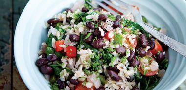 Black Bean and Brown Rice Vegie Bowl