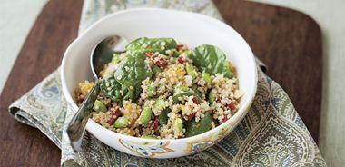 Earl Grey-Infused Edamame Quinoa Salad