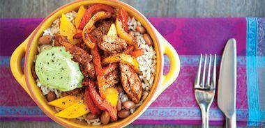 Chicken Fajita Rice Bowl