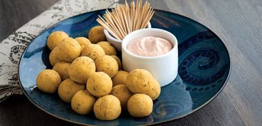 Apricot Hummus Balls