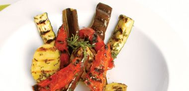 Grilled Summer Garden Vegetables with Garlic and Fresh Herbs