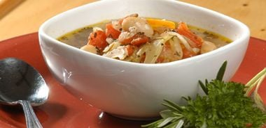 Traditional Italian Bean and Grain Soup