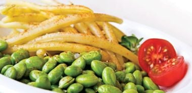 Seasoned Edamame and Beans