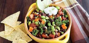 Vegetarian Chili with Jewel Yams