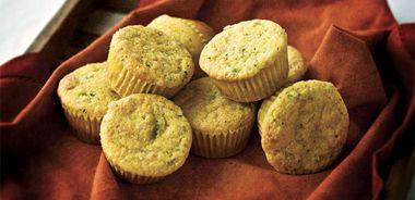 Jalapeno Garlic Cornbread Muffins