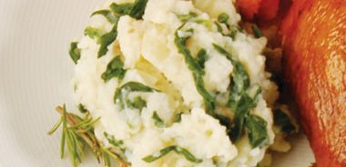 Emerald Garlic Mashed Potatoes