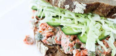 Salmon Salad on Rye