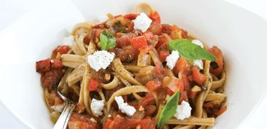 Roasted Pepper and Chipotle Sauce Pasta