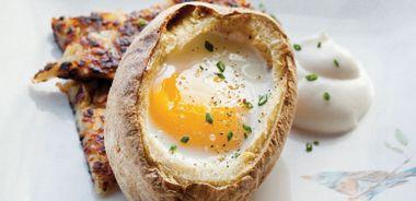 Egg Baked in Potato