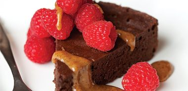 Steamed Chocolate Cake with Almond Cream
