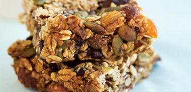 Sticky Fruit and Oat Squares