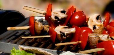 Mushroom and Pepper Kebabs