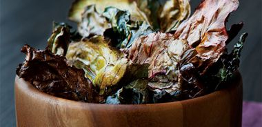 Curry Swiss Chard Chips