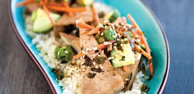 Teriyaki Tofu Rice Bowl