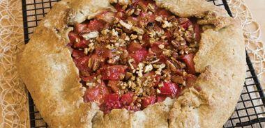 Delicious Rhubarb Rustic Tart