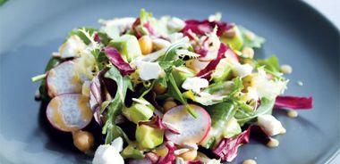 Spring Green Salad with Honey-Lime Vinaigrette