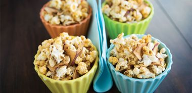 Cheesy Apple and Herb Popcorn