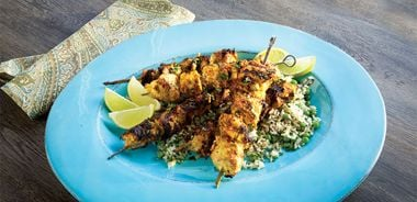 Lime and Saffron Chicken Kabobs (Joojeh Kabab)