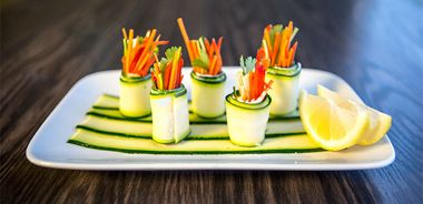 Vegetable Sushi Rolls with Ricotta Butter