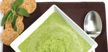 Sweet Spring Pea Soup with Mint