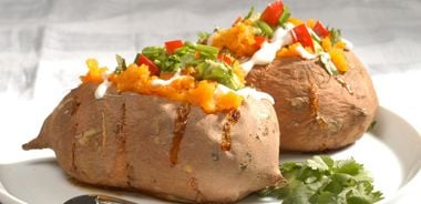 Mexican Stuffed Yams with Avocado