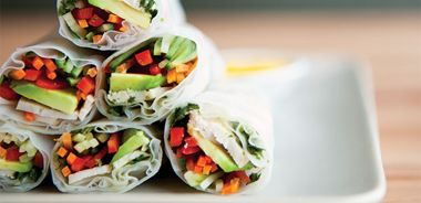 Chicken Spring Rolls with Mango Dipping Sauce