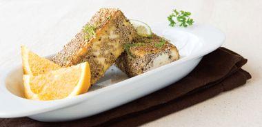 Chia-crusted Tofu with Lime Salt