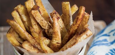 Moroccan-Spiced Parsnip Fries with Creamy Lemon Dip