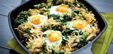 Silverbeet Egg Pan