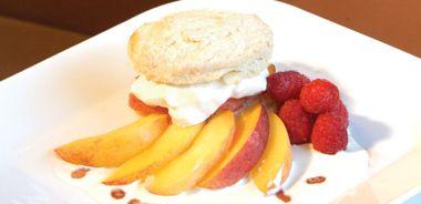 Peach Shortcakes with Ginger Crème Fraîche