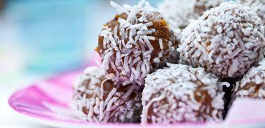 Orange Coconut Fruit Balls