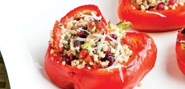 Mediterranean Walnut Stuffed Bell Peppers