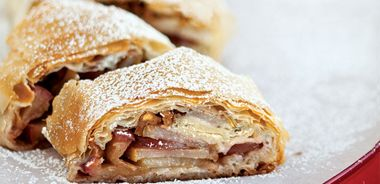 Pear and Apple Strudel