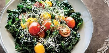 Kale and Sprout Salad with Immune-Boosting Dressing