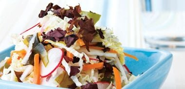 Wakame and Spring Vegetable Coleslaw
