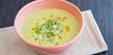 Chilled Curry Zucchini Yogurt Soup