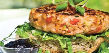 Garden Chicken Burger with Hoisin Barbecue Sauce