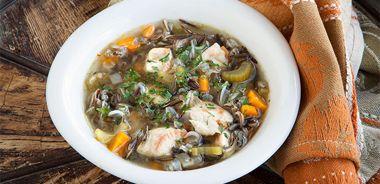 Turkey, Mushroom, and Wild Rice Soup