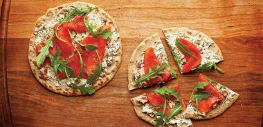 Quinoa Flatbread Salmon Pizzas