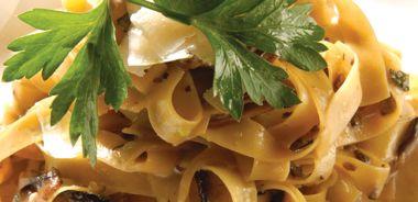 Fettuccine Tartufate with Portobello Mushrooms and Truffle
